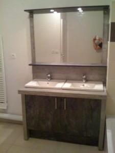 Okiban - Salle de bains : double vasque stratifie