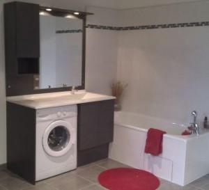 Okiban - Salle de bains : lave-linge wenge